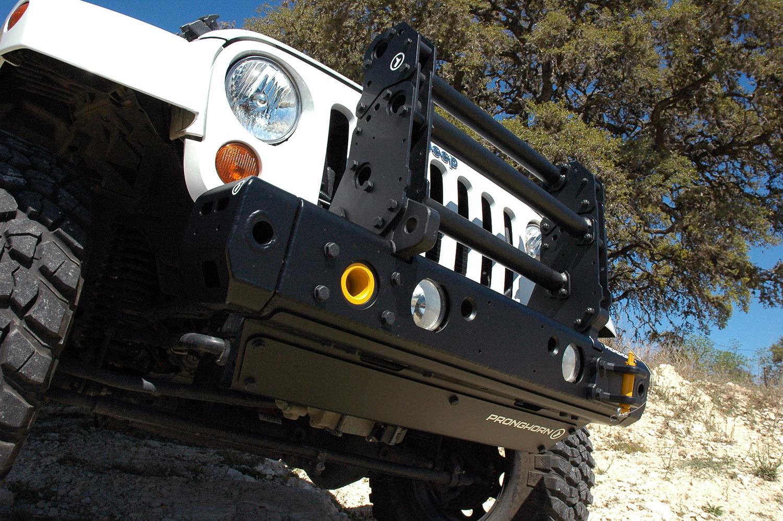 MFES-JK C7-S Jeep JK Wrangler Aluminum Front Stubby Bumper